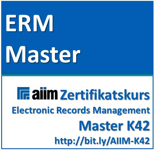 AIIM Electronic Records Management Master (Zertifikats-Kurs)