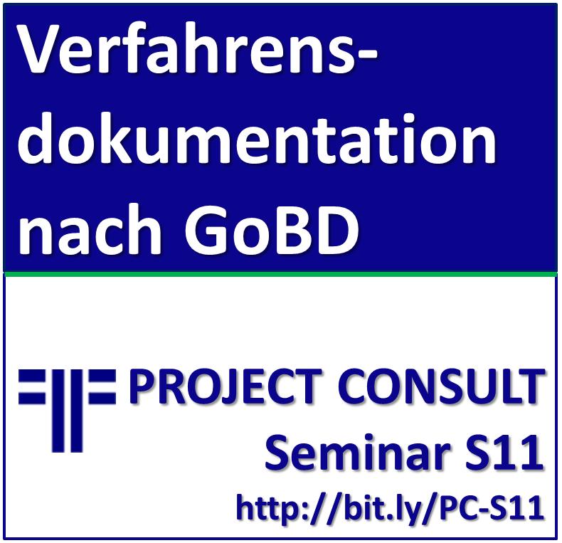 Verfahrensdokumentation nach GoBD