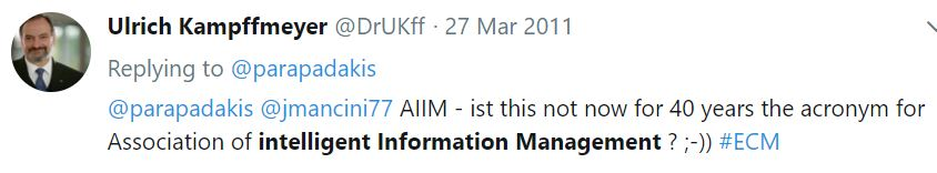 AIIM Association for Intelligent Information Management