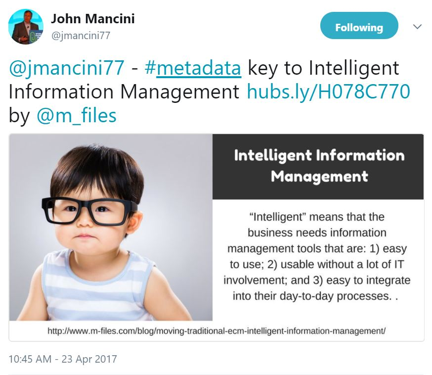 John Mancini Intelligent Information Management