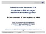 E-Government & Elektronische Akte | Auszug aus Update Information Management 2018