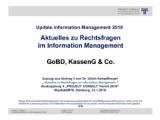 GoBD, KassenG & Co. | Auszug aus Update Information Management 2018