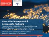 Information Management & E-Rechnung | Webinar Seeburger 2019
