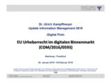 """EU Urheberrecht im digitalen Binnenmarkt (COM/2016/0593)"" | Auszug aus Update Information Management 2019"