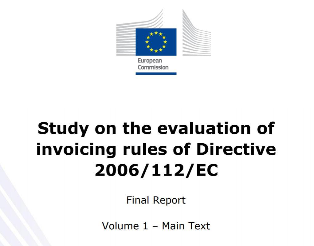 EU Studie zu Invoicing (und eArchiving)