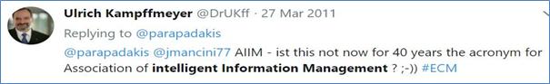 Nur Information Management oder Intelligent Information Management?
