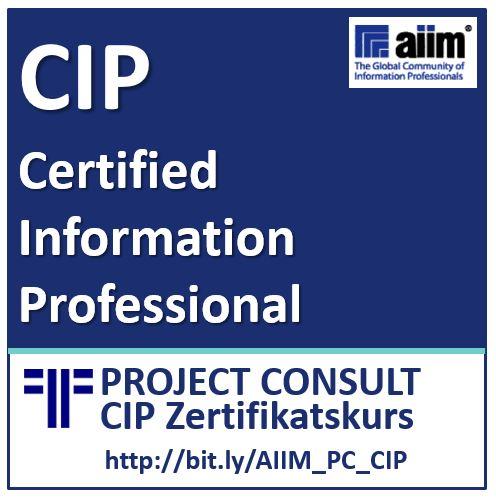 "Teilnahme am ""FIIM Foundations of Intelligent Information Management"" Kurs (AIIM CIP Vorbereitung)"