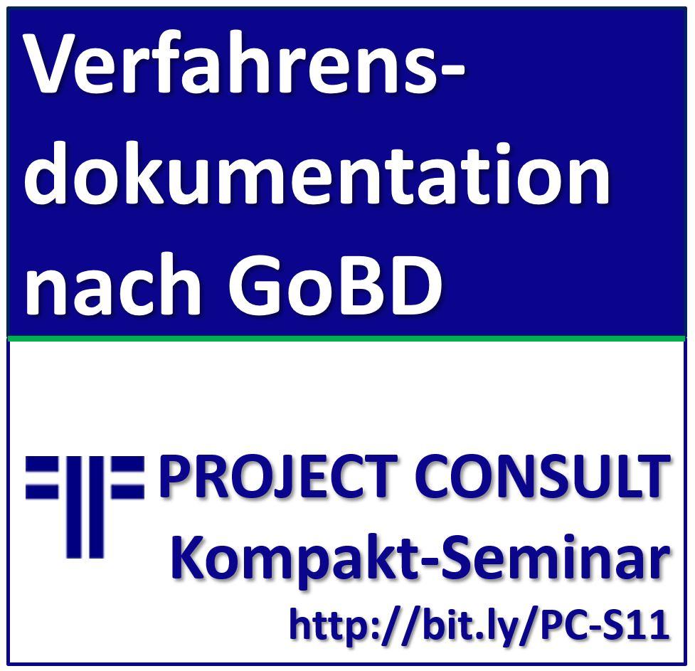 ABGESAGT: 28.05.2020 | Verfahrensdokumentation nach GoBD
