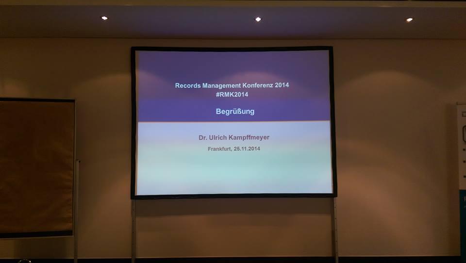 Begrüßung Records Management Konferenz 2014