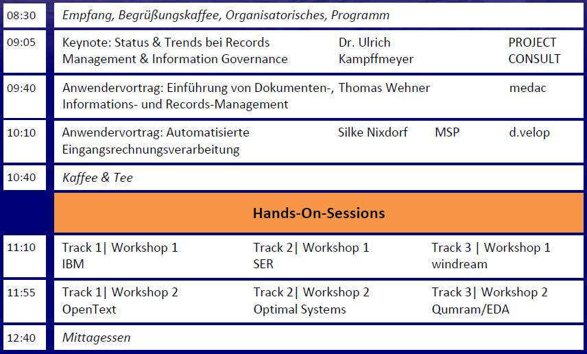 RMK2014 Agenda Vormittag
