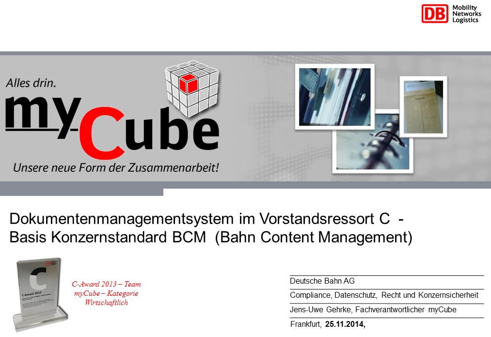 Vortrag Deutsche Bahn Titelfolie RMK2014