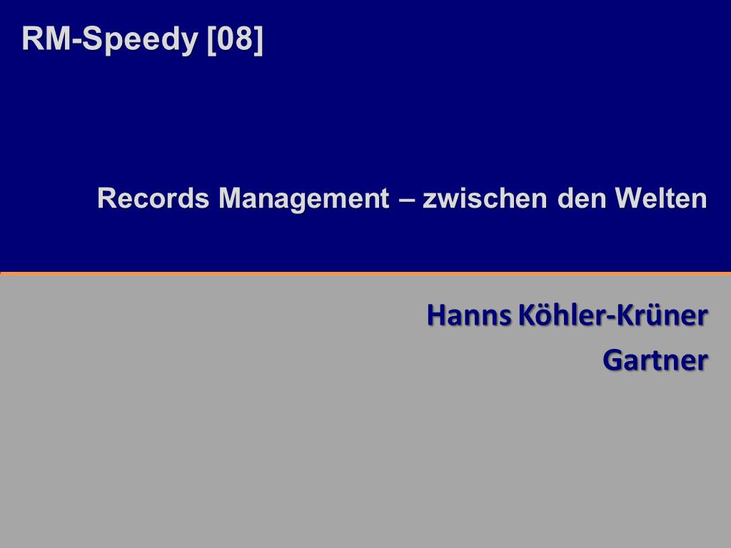 RM-Speedy Gartner Titelfolie RMK2014
