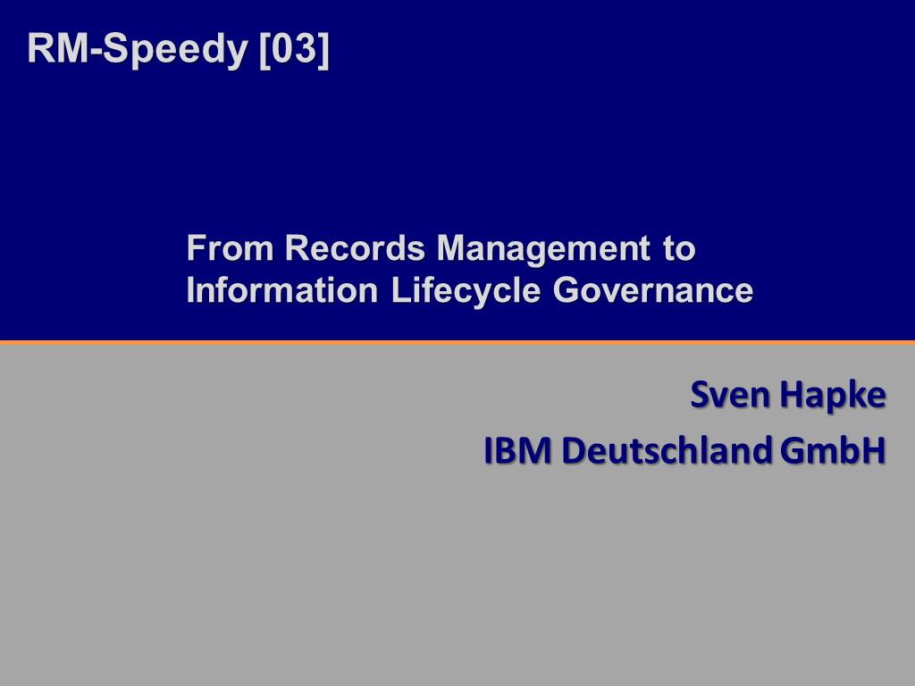 RM-Speedy IBM Titelfolie RMK2014