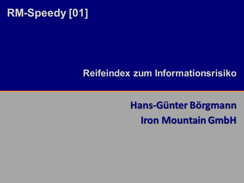 RM-Speedy Iron Mountain Titelfolie RMK2014