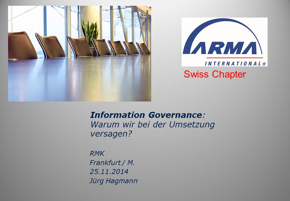 Keynote ARMA Schweiz Titelfolie RMK2014