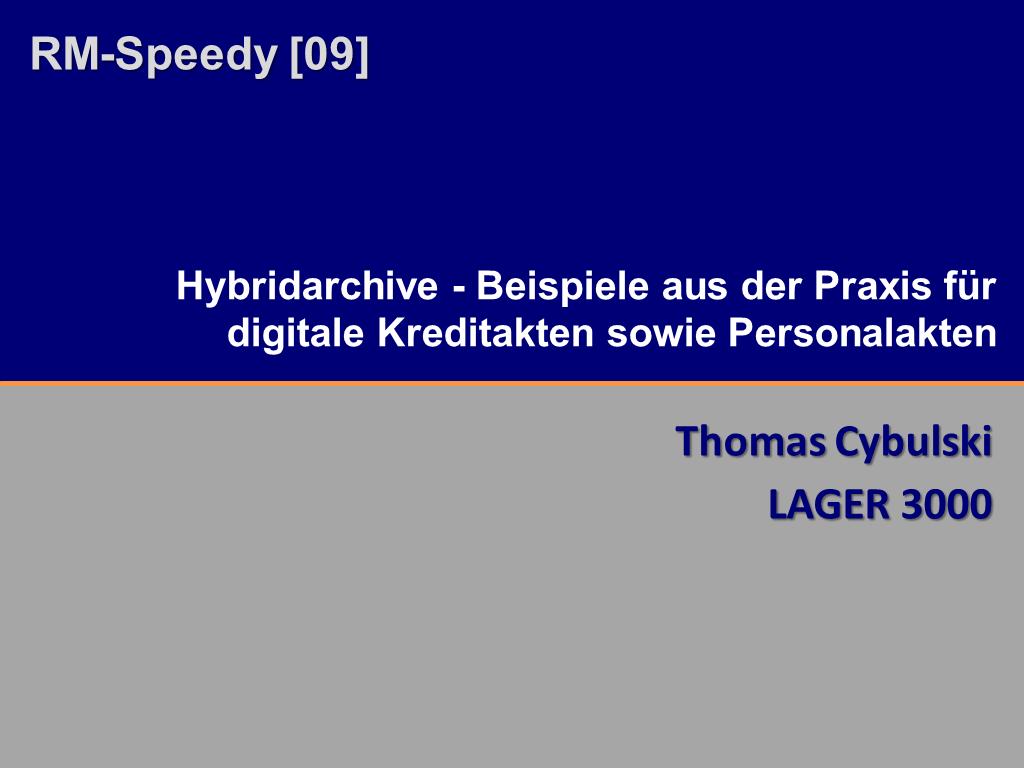 RM-Speedy Lager3000 Titelfolie