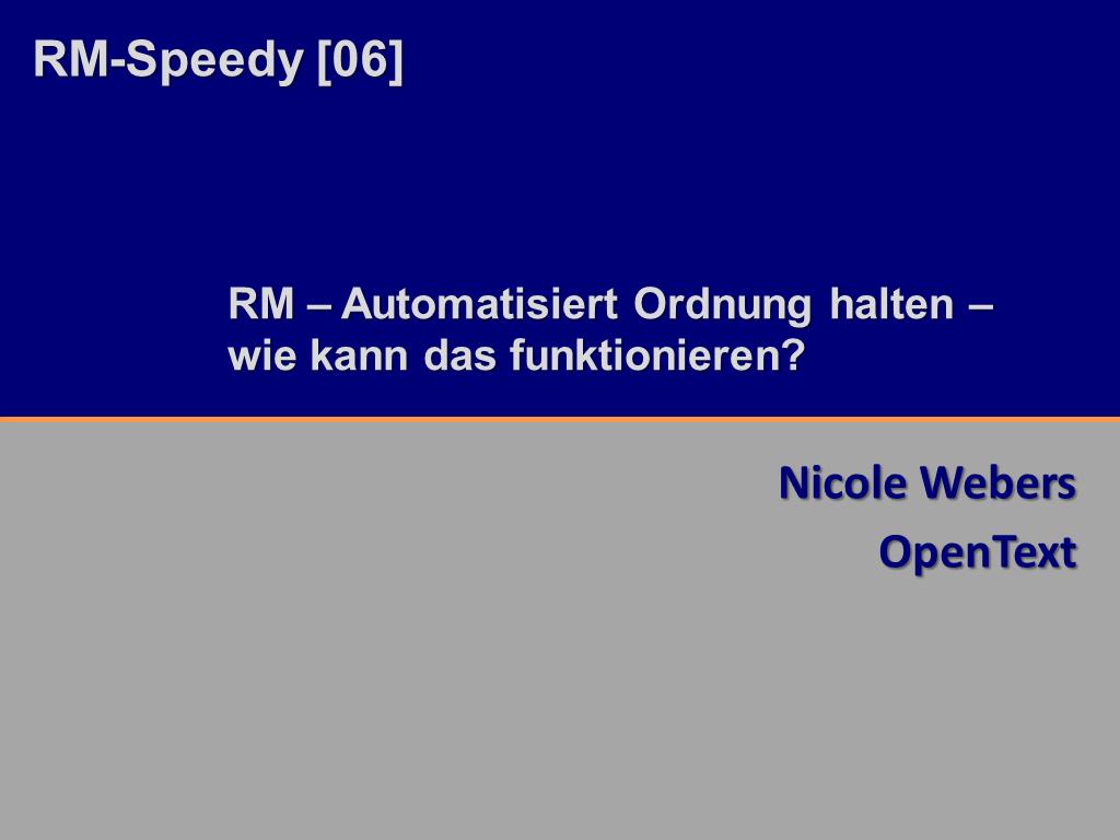 RM-Speedy OpenText Titelfolie RMK2014