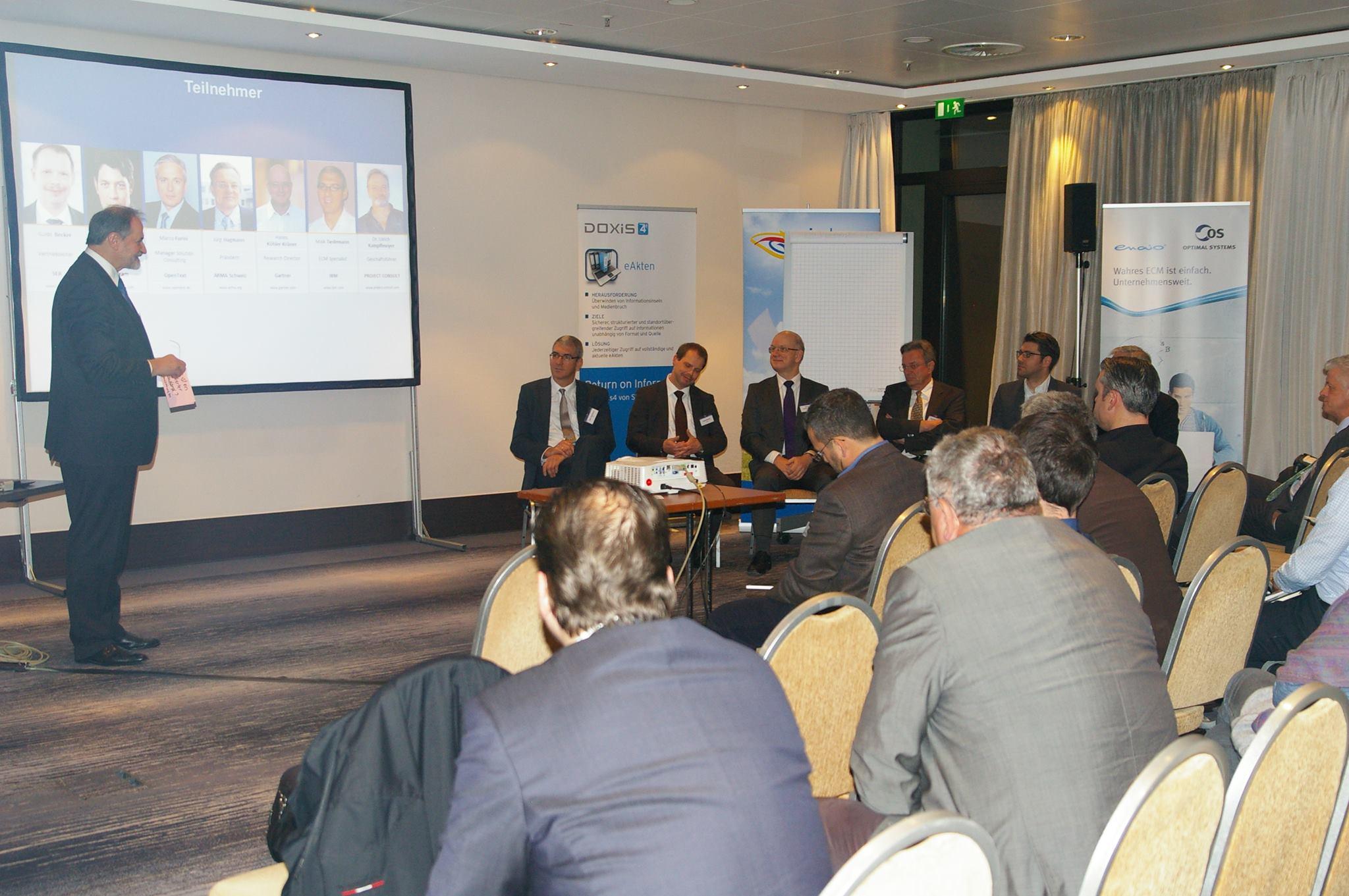 Panel-Diskussion Records Management Konferenz 2014