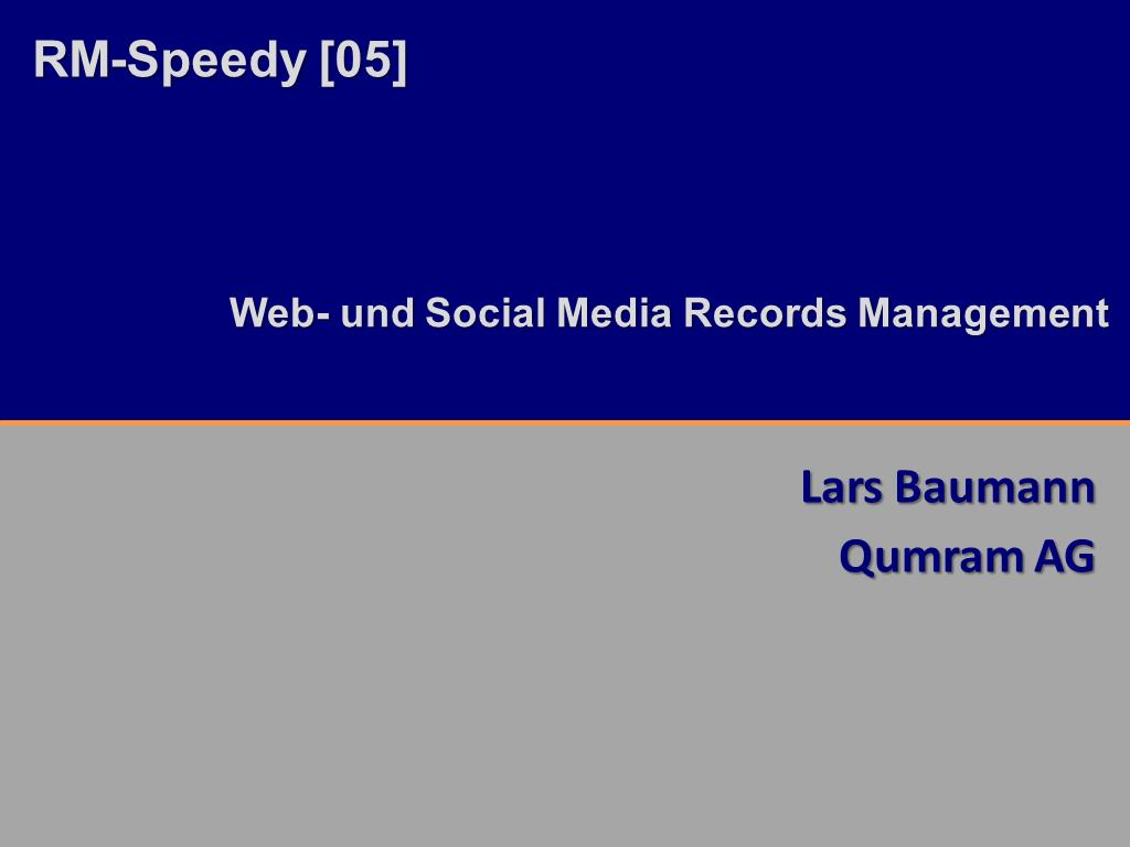 RM-Speedy Qumram Titelfolie RMK2014