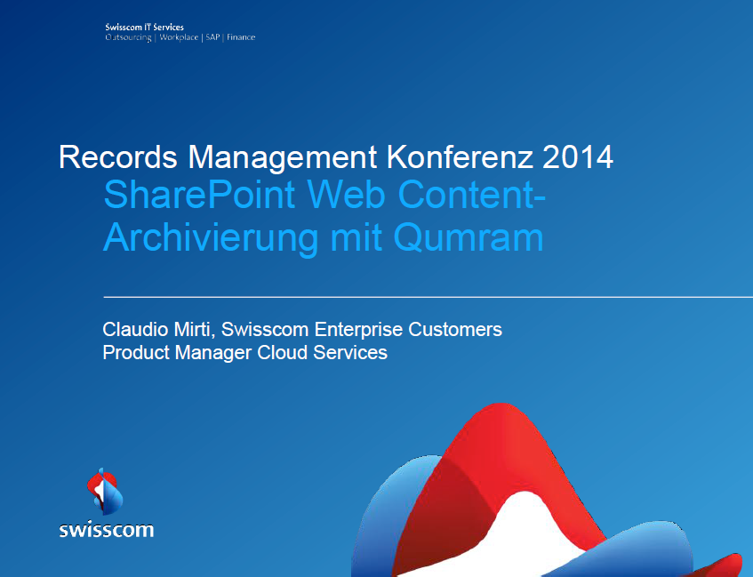 Vortrag Mirti Swisscom Titelfolie RMK2014