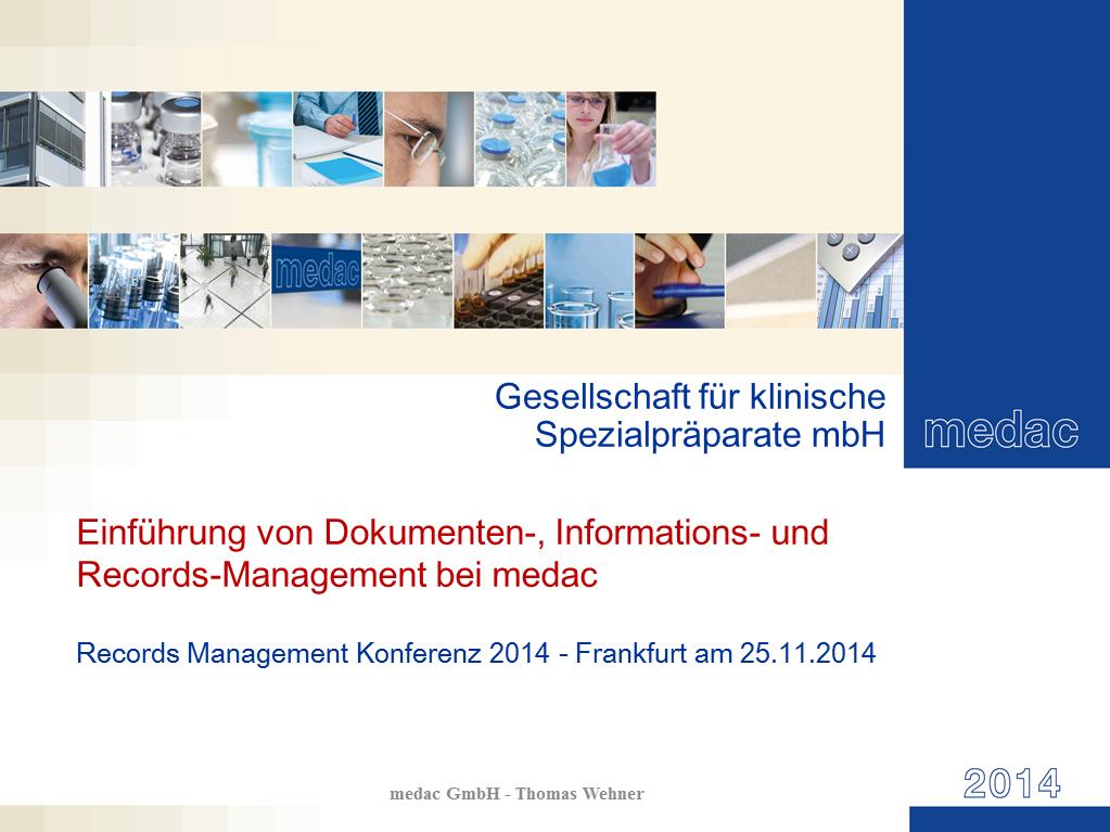 Vortrag medac Titelfolie RMK2014